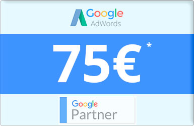 75€ gratis* en Google Adwords
